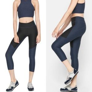 Outdoor Voices Two Tone Warmup Leggings Navy